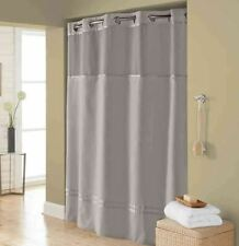 Hookless Escape 71-Inch x 74-Inch Fabric Shower Curtain and Liner Set in Grey