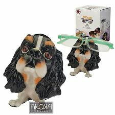 Optipaws CKCS Tricolour Dog Figurine Glasses Holder NEW in Gift Box - 24319