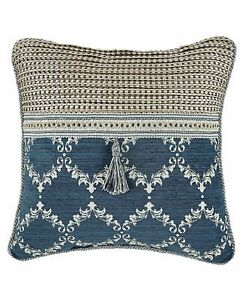 Croscill Pillow Sham Madrena Euro European 26 in x 26 Deep Teal Tassel NEW one
