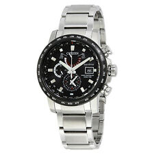 Citizen World Time A-T Chronograph Perpetual Eco-Drive Mens Watch AT9071-58E