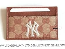 GUCCI Original Card-Holder With New York Yankees Patch