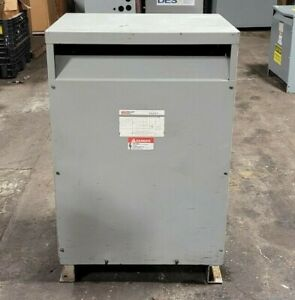 FEDERAL PACIFIC 75 KVA DRY TYPE TRANSFORMER 480▲ HV 208Y/120 LV 3 PHASE T4T75-1