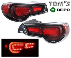 fit 12-13 Scion FR-S FRS Subaru BRZ BLACK LED Tail Lights GENUINE TOM'S CLEAR