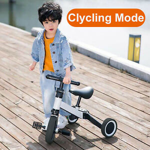3 in 1 Kids Tricycles for 2+ Years Old Toddler Trike Baby Balance Bike