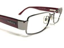 Versace Mod1124 1001 Unisex Burgundy Modern Rx Designer Eyeglasses Frames 51/15