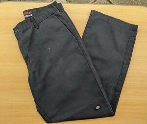 Vintage Dickies Double Knee Black Trousers W34 L31 Workwear 34 x 31 Carpenter