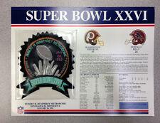 Super Bowl Xxvi Patch Washington Redskins vs. Buffalo Bills