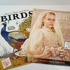 Walter Foster Art Books Portraits Mackie Birds Hunt Drawing Painting Instruction