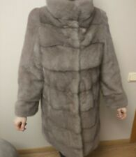Real Mink Fur coat Custom made  size S  color Orchids