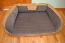 ORVIS  FIELD COLLECTION BOLSTER DOG BED MEMORY FOAM LRG  60-90 LB LIST $298 NEW