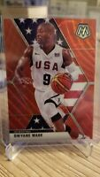 2019-20 Panini Mosaic Tmall Team USA Dwyane Wade Red Wave Prizm SP