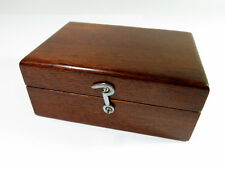 Antique Solid Mahogany Lined Presentation/Trinket/Jewelry Box — Restored
