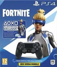 SONY CONTROLLER DUALSHOCK V2 PS4 PLAYSTATION 4 NERO WIRELESS CON CODICE FORTNITE