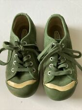 Keen Sneaker Leather Green  Hiking Shoes Toddler Size 12  Lace Up Tie