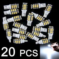 20 Pure White T10 W5W 194 RV Trailer 42 SMD 12V Interior Reverse LED Light Bulbs