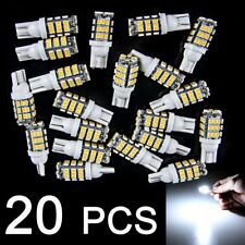 20 Pure White T10 W5W 194 RV Trailer 42 SMD 12V Interior Reverse LED Light Bulbs