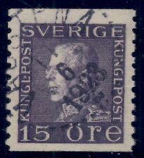 SWEDEN #189 (175cx) 15ore violet, WMK WAVY LINES, Norsten cert, Facit $1,025+