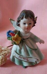 Vintage April Birthday Angel Figurine - Lefton?