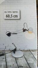 Lampe Metall für den Schreibtisch 60 cm  weiß NEU Messeware Dekoration