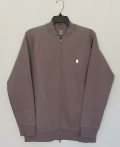 Apple Computers Warm Up Track Jacket Zip Open Size Large Gray