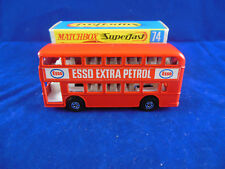 Matchbox Superfast MB 74 a Daimlier Fleetliner Bus Esso Small Narrow Wheels