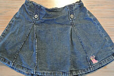 LITTLE ME Stretch Blue Denim Mini Skirt Skort Shorts Size 4 Embroidered **EUC**