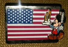 WDW WALT DISNEY WORLD MICKEY MOUSE USA FLAG COLLECTIBLE PIN RARE AUTHENTIC