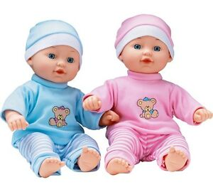 Chad Valley Babies to LoveTalking Twin Dolls 30cm Baby Dolls (NEXT DAY DELIVERY)