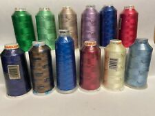 New Sealed 100/% Rayon 5000m//5500yd Viscose Embroidery Thread Navy Blue 1043