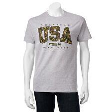 NIB American Tradition USA Army Camo Tee Shirt.  XL 90% Cotton Free shipping