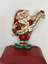 Rare Vintage Midwest Importers of Cannon Falls Cast Iron Elf Stocking Holder