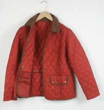 BARBOUR VINTAGE TWEED QUILT Women's EU 42 or ~L Wool Trim Snap Jacket 22330_JS
