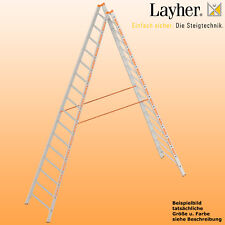 Layher Alu Sprossenstehleiter, 2x16 Spr., L=4,65m, Bockleiter Topic Typ 1039.016