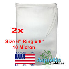 "2x Filter Bag 6"" x 8"" 10 Micron Felt Polypropylene Made in USA"