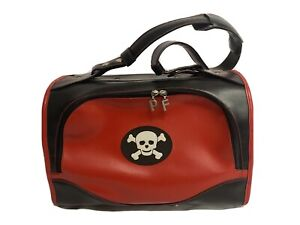 Pet Flys Airline-Approved Pet Carrier - Red with Skull