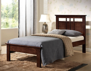 Twin Cappuccino Bed