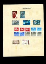 Netherlands Album Page Of Stamps #V5247