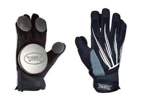 Longboard Slide Free Ride Gloves Puck Heavy Duty S M L XL Red Skeleton Black