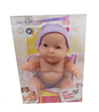 "JC Toys LOTS TO LOVE 8"" BABIES PURPLE W/CLOSED MOUTH Bath Time Blue Eyes 16822D"
