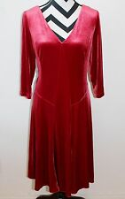 COLDWATER CREEK Red Velvet Dress Sz M 10-12 NWT $120	#47