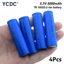 4Pcs 18650 Battery 3.7V 3000mAh Li-ion Rechargeable Cell For Headlamp Torch F88