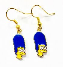 The Simpsons MARGE Head Cartoon Character Dangle Hook Earrings Ships Fast GIFT