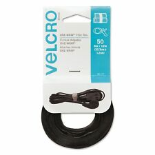 100 PAK VELCRO REUSABLE TIES straps cable wrap wire zip plastic bulk binder cord