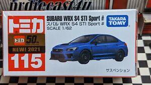 TOMICA #115 SUBARU WRX S4 STi SPORT 1/62 SCALE NEW IN BOX [WYL]