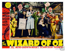 THE WIZARD OF OZ  LOBBY SCENE CARD # 3 POSTER 1939 JUDY GARLAND THE MUNCHKINS