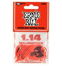 Ernie Ball 9194 - Sachet de 12 médiators Everlast rouge - 1.14mm