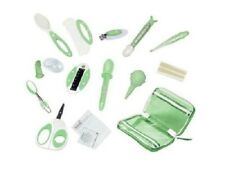 Infant Baby Care Nursery Bath Kit Grooming Set Brush Comb Nail Clippers Bag