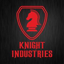 KNIGHT INDUSTRIES Rider Kitt Michael 80s Rot Auto Vinyl Decal Sticker Aufkleber