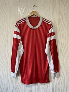 ADIDAS 70s 80s FOOTBALL SHIRT SOCCER JERSEY LONG SLEEVE RED