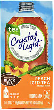 50 10-Packet Boxes Crystal Light Peach Iced Tea On The Go Drink Mix